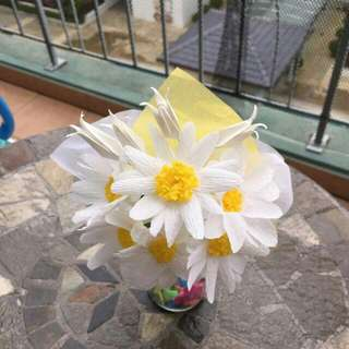 Various Daisy Origami Hand Bouquet