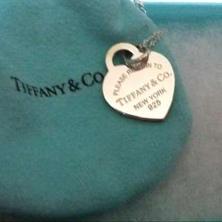 """Return to Tiffany® heart tag pendant in sterling silver, Medium. On An 18"""" chain"""