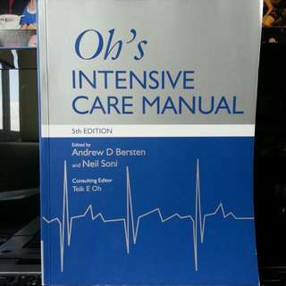Oh's Intensive Care Maunal
