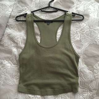 TOPSHOP Cropped Racetrack Tank Top