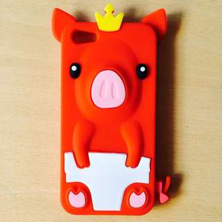 iPhone 5s Pig Silicon/rubber Case