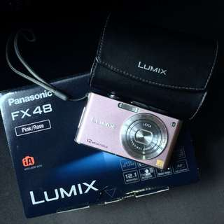 Panasonic Lumix DMC-FX48 Compact Camera in Pink Rose
