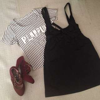 Skirt & Stripes Top Set