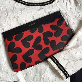 Saint Laurent Big Hearts Clutch