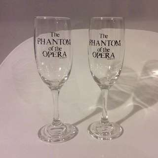 (reserved) BN Phantom Of Opera Champagne Glasses
