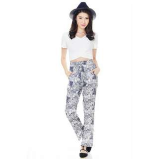 tcl islander jogger pants in leafy prints