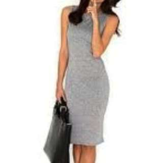Grey Sleeveless Midi