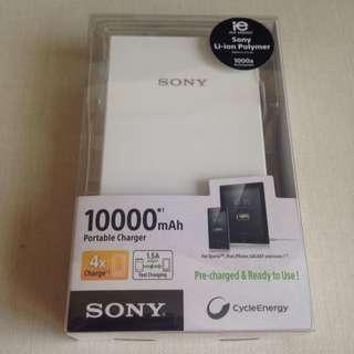 Sony White 10000mAh Portable Charger BNIB
