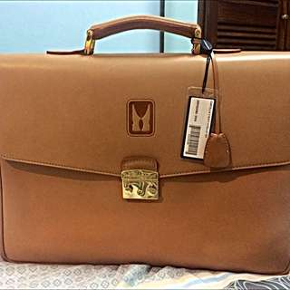 Moreschi leather briefcase