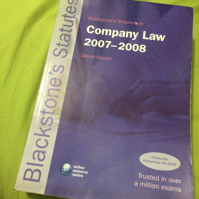 Company Law (Blackstone's Statues)