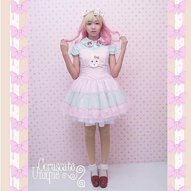 Pastel Candy Dress Pink Tosca Kawaii Fashion