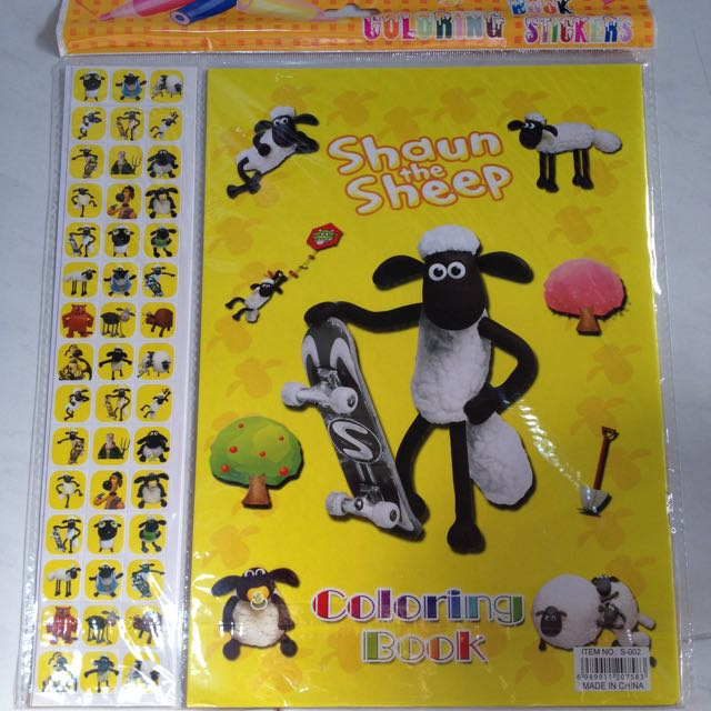 Sticker And Coloring Book - Shaun Sheep, Babies & Kids on Carousell