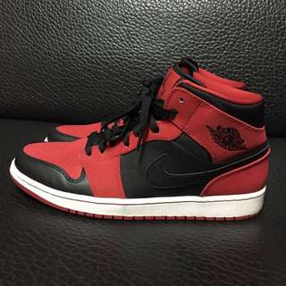 Nike Air Jordan Aj1 Mid Red us10.5 九成新