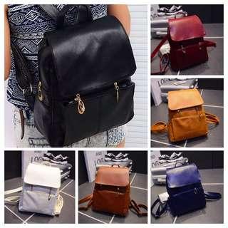 Nancy's PU Leather Bagpack
