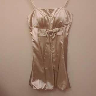 香檳金花苞裙