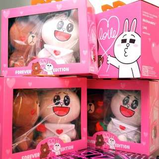 McDonald's Line Couple Toys -Brown & Cony Forever Love Edition