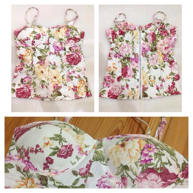 NEW Floral Bustier Top