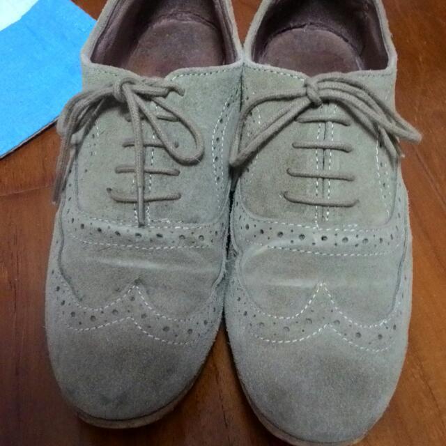 Topshop麂皮牛津鞋