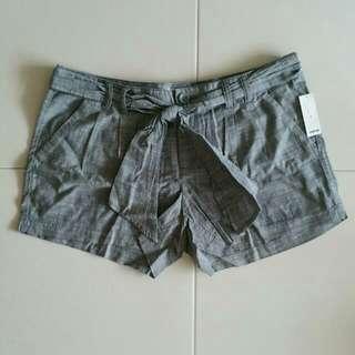 BNWT Grey Cotton Bow Tie Shorts