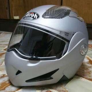 Airoh Mathisse Air Flip-up Crash Helmet (XL 61-62cm) in Silver Matte