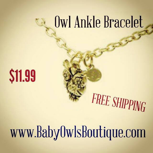 Owl Ankle Bracelet Women S Fashion On Carou
