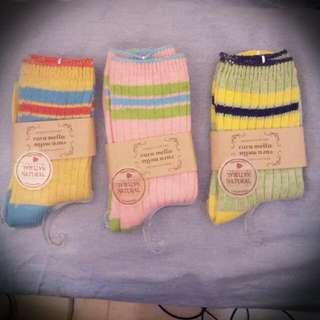 三色針織socks