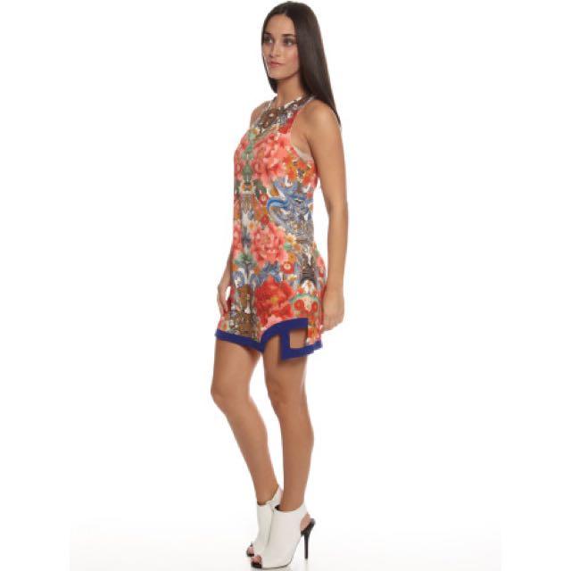 ❤️ MINKPINK Stratosphere Tunic Dress In Oriental Floral Print