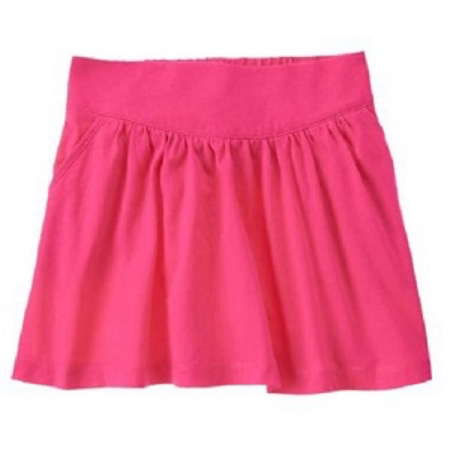 BN Size XS(4yr), S(5-6yr) Crazy 8 Hot Pink Pocket Skirt For Kid Girl - Pkcrazy8 Pkgirl