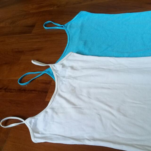 New Look Camisoles! White And Blue Avail