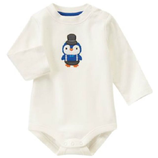 BN Size 6-12m Gymboree Dapper Penguin Bodysuit/Romper For Baby Boy - Pkgymboree Pkboy
