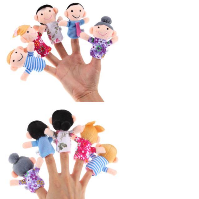 BN 6pcs Family Finger Puppets