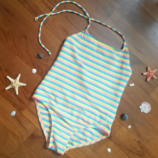 BN Rainbow Ribbed Swimsuit For Kids!