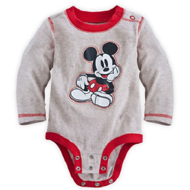 BN Size 9-12m Disney Mickey Mouse Cuddly Bodysuit/Romper For Baby Boy - Pkdisney Pkboy