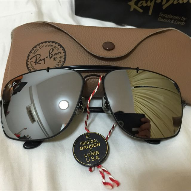 c171467197a BNIB Vintage Bausch   Lomb Made In U.S.A Ray Ban Black Explorer ...