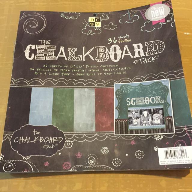 Chalkboard Stack Sheet