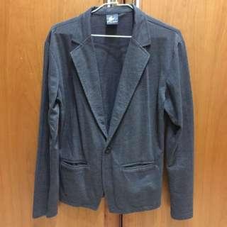 綿質單釦西裝外套