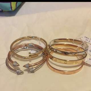 Real Gold Cartier Bangles