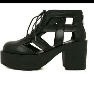 Black Leather Ankboots
