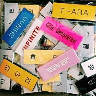 Korean Name Tags