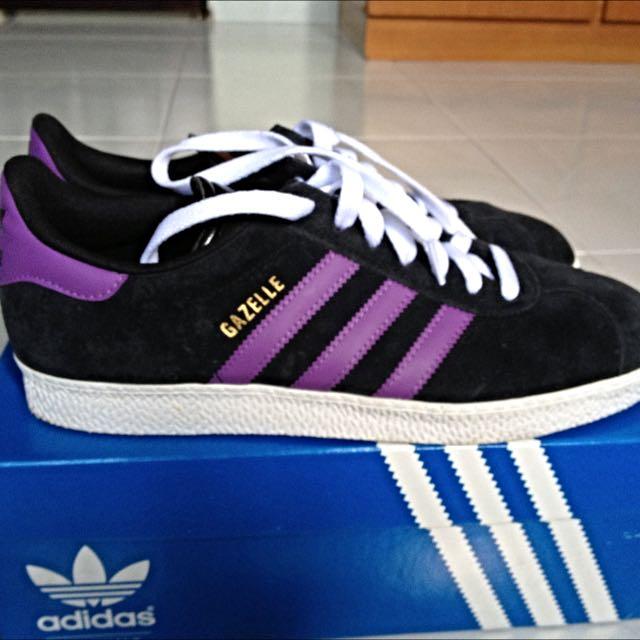 Adidas Gazelle II (black/purple), Women's Fashion, Footwear ...