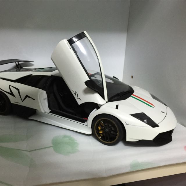 Autoart 1 18 Lamborghini Murcielago Sv White Toys Games On
