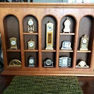 Vintage 12 Miniature Clocks Of Various Designs