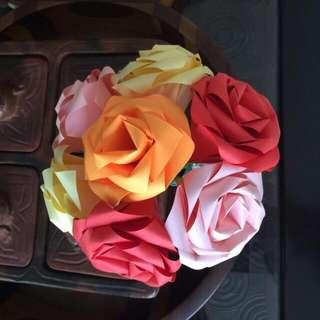 Origami Rose Hand Bouquet