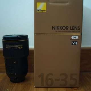 16 - 35 mm f/4G VR