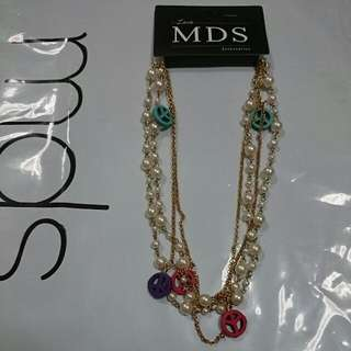 MDS Peace & Pearl Necklace