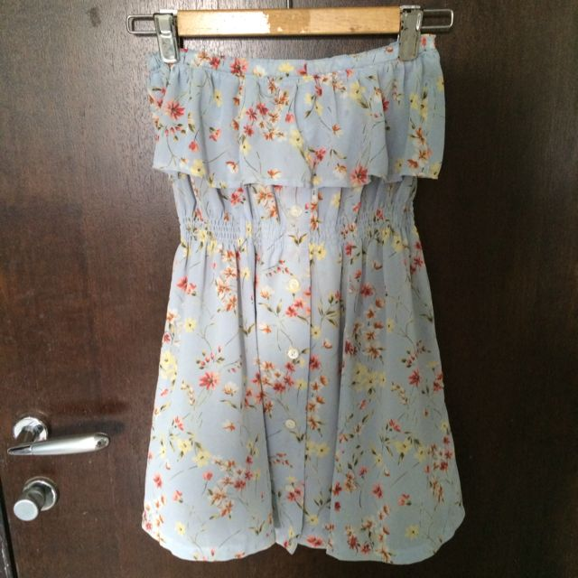 Baby Blue Vintage-y Summer Dress
