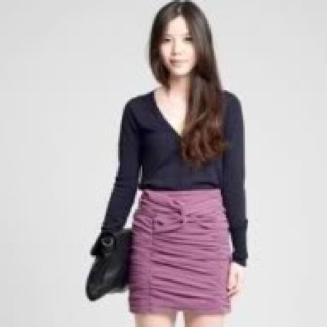 Smooch Ruched Knot Skirt In Purple