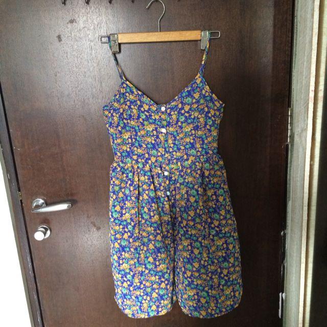 TEM Blue Floral Buttoned Dress Pending