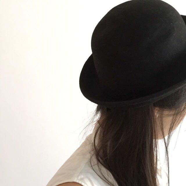 Flat Brim Bowler Hat