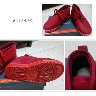短毛靴-紅